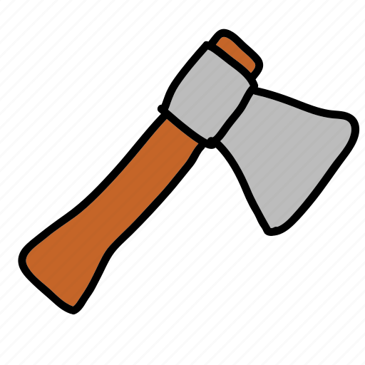 axe, construction, handwork, tool, tools, tree, wood icon
