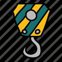 duty, heavy, heavyduty, hook, construction, crane, tools icon