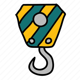 construction, crane, duty, heavy, heavyduty, hook, tools icon