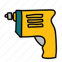 construction, drill, handwork, tool, tools icon