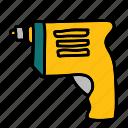 handwork, tool, construction, tools, drill icon