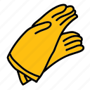 gloves, construction, handwork, safety, tools icon