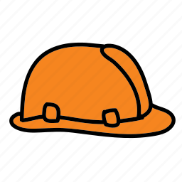 construction, hard, helmet, safety, tools icon