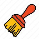 brush, construction, handwork, paint, paintbrush, tools icon