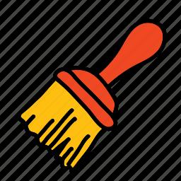 brush, construction, handwork, paint, paintbrush, tools icon