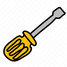 building, construction, screw, screwdriver, tools, wall icon