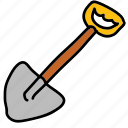 construction, dig, gardening, handwork, shovel, tools icon