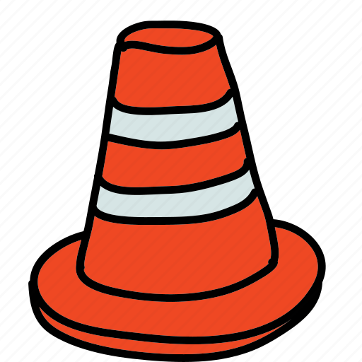 caution, cone, road, safety, street, tools icon