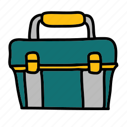 building, construction, lunch, toolbox, tools icon
