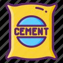 cement, mixer, concrete, bag