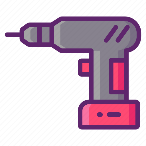 Cordless, drill, tool, construction icon - Download on Iconfinder