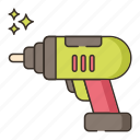 cordless, drill, tool, construction