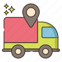 delivery, tracking, shipping, vehicle