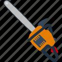 chain, electric, equipment, flat, saw, tool, work