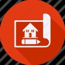 blueprint, construction, tool, utensils icon
