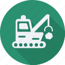 bulldozer, construction, tool, utensils icon