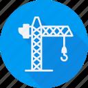 construction, crane, tool, utensils icon
