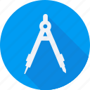 compass, construction, drawing, tool, utensils icon