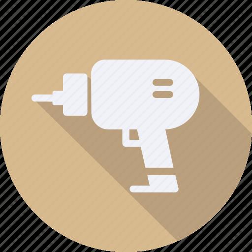 construction, drill, tool, utensils icon