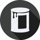 a, can, construction, in, painting, tool, utensils icon