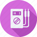 construction, tool, utensils, voltmeter icon