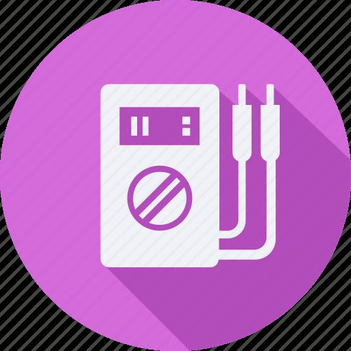 construction, tool, utensils, voltmeter icon