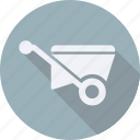 construction, tool, utensils, wheelbarrow icon
