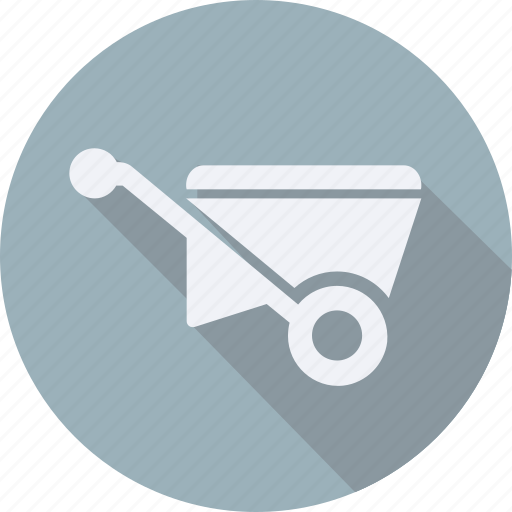 construction, tool, utensils, wheelbarrow icon