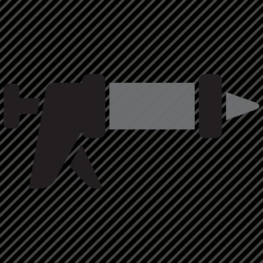 caulking, caulking gun, equipment, gun, tool, tools icon