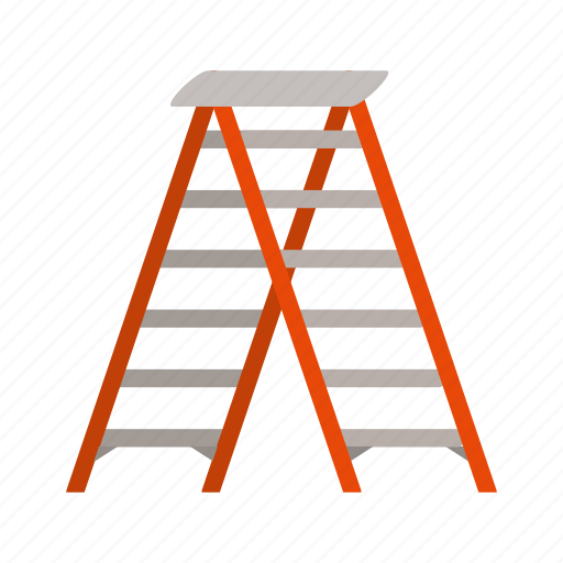 climb, climbing, ladder, tall, wood, wooden, work icon