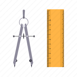 draw, instrument, measure, measurement, measuring, object icon
