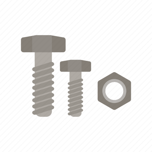 accessories, bolt, construction, hardware, nut, screw, steel icon