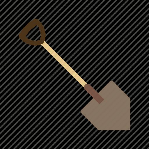 dig, digging, garden, muddy, soil, spade, tool icon