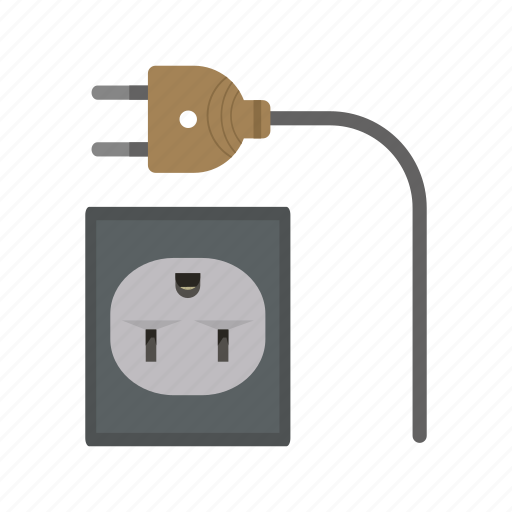 cable, cord, electric, plug, power, technology, wire icon