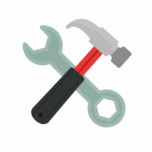 hammer, maintenance, metal, repair, spanner, tools, wrench icon