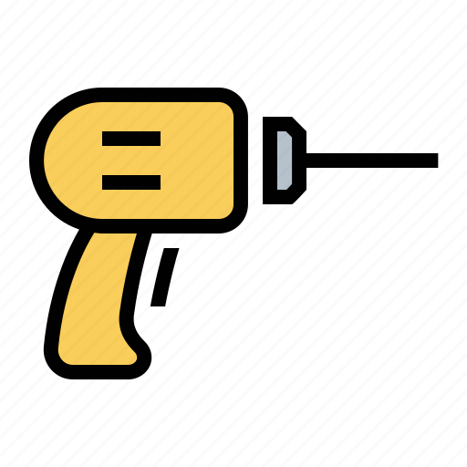 drill, electric, tools icon