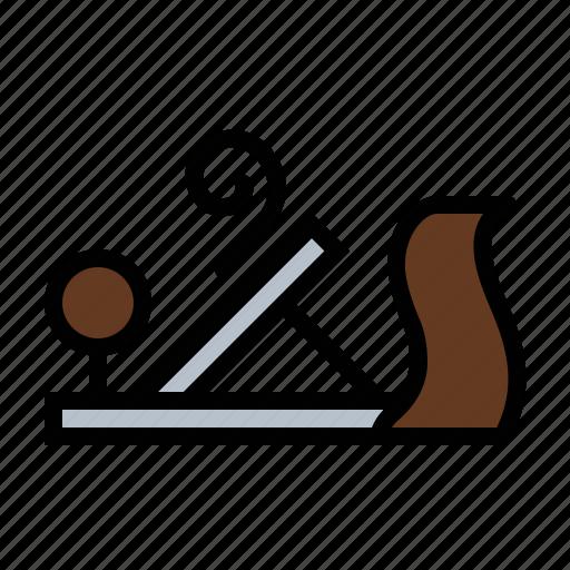 plane, tools, wood icon