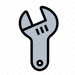 adjustable, spanner, tools, wrench icon