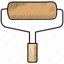 brush, decoration, paint, roller icon