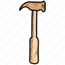 claw, diy, hammer, house, mallet, repair, tool icon