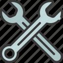 crossed, over, spanners, diy, tool