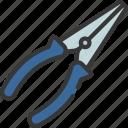 long, nose, pliers, diy, tool