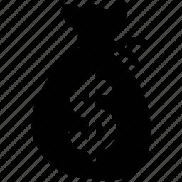 bag, money bag, money pouch, money sack, pouch, sack icon