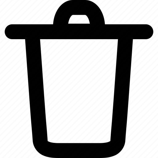basket, bucket, container, content, garbage bin, storage, trash can icon