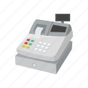 cash, cash drawer, cash register, cashier, money box, register icon