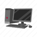 computer, desktop computer, pc, personal computer, technology, web icon