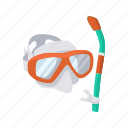 diving, diving mask, goggles, mask, scuba diving, snorkeling icon