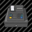 cash, cash drawer, cash register, coin box, money box, sales register