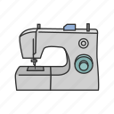 fashion, sew, sewing machine, tailor, tailoring, thread icon