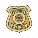 authority, badge, cop, enforcer, police, profession, shield